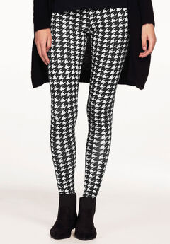 Leggings by ellos®, BLACK WHITE HOUNDSTOOTH