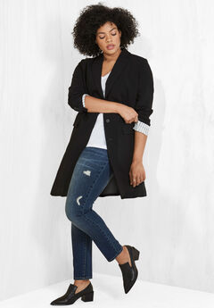 Long Boyfriend Blazer by ellos®, BLACK, hi-res