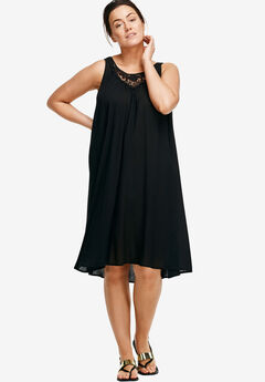 Lace Inset Trapeze Dress by ellos®,