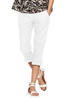 Seamed Capris by ellos®, WHITE, hi-res