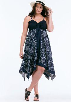 Scarf Print Dress by ellos®,