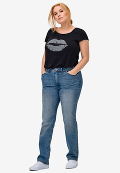 Straight Stretch Jeans by ellos®,