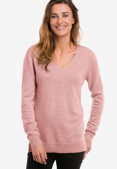 fcc6374a8a4 V-Neck Cashmere Pullover Sweater by ellos®