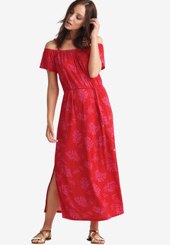 dc6df95e844 Off-the-Shoulder Maxi Dress by ellos®