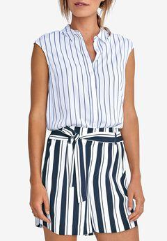 Tie-Front Crepe Shorts by ellos®,