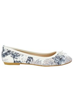 Ballet Flats by ellos®, WHITE NAVY FLORAL, hi-res
