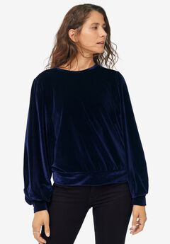 Full Sleeve Velour Top,