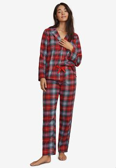 NEW Womens Flannel Nightgown Plus Size 2X 3X 100/% Cotton Plaid Red Checker 24