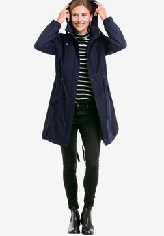 Twill Hooded Anorak by ellos®, NAVY, hi-res