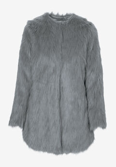 Faux Fur Snap Front Coat by ellos®,