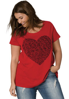 Love Ellos Tee by ellos®, CLASSIC RED HEART