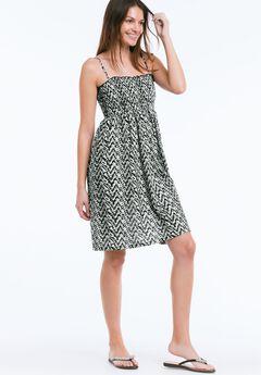 Smocked Bodice Dress by ellos®,