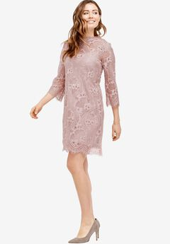 A-Line Scalloped Lace Dress by ellos®,
