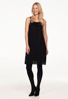 Sleeveless Lace Keyhole Back Dress by ellos®, BLACK, hi-res