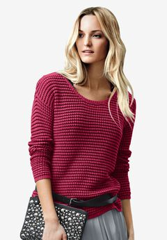 Chunky Knit Sweater by ellos®, RICH BURGUNDY, hi-res
