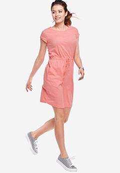 Knit Drawstring Dress by ellos®, FLAMINGO PINK, hi-res