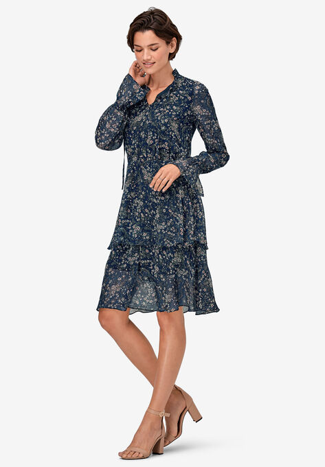 Tiered Elastic Waist Peasant Dress by ellos®