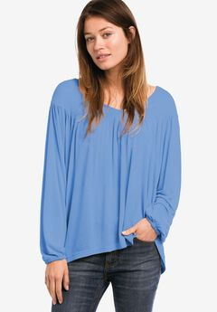 Oversized Shirred Yoke Tunic by ellos®,