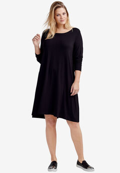 Chelsea Knit Dress by ellos®, BLACK, hi-res