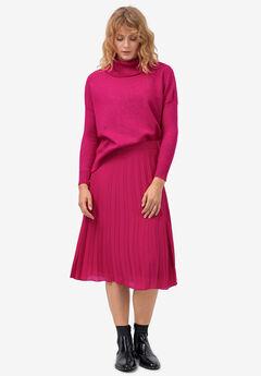 Pleated Midi Skirt by ellos®, RUBY ROSE