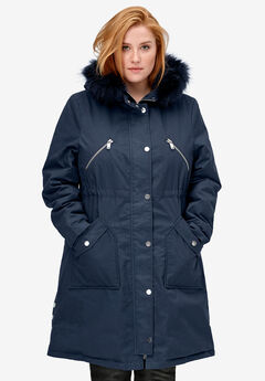 Side-Snap Zip-Front Parka,