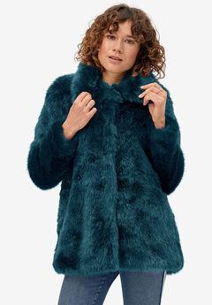 Blue Faux Fur Coat by ellos®,