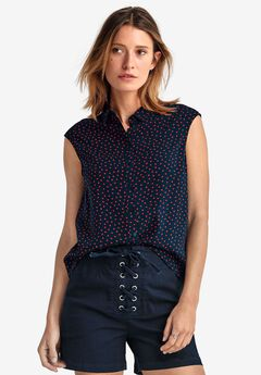 Sleeveless Button Front Blouse by ellos®,