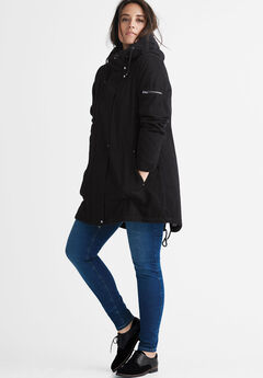 Hooded Twill Anorak by ellos®, BLACK