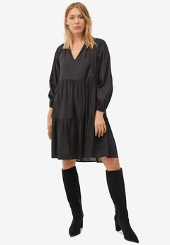 V-Notch Tiered Dress by ellos®,