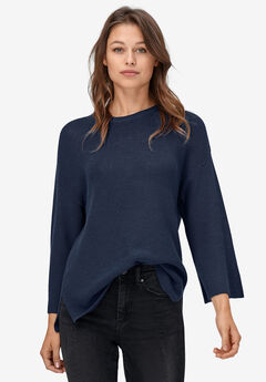 Relaxed Rib Pullover Sweater by ellos®,