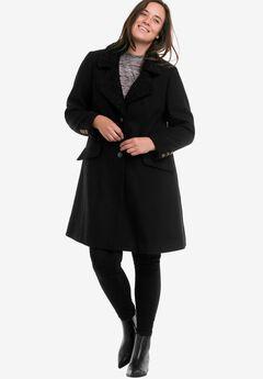 Victoria Wool-Blend Coat by ellos®, BLACK