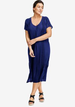 A-line Cut-Out Back Dress by ellos®, BLUEBERRY