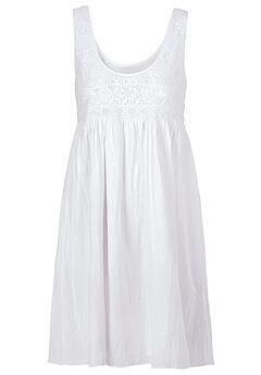 Sleeveless Lace Bodice Dress by ellos®,