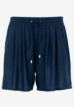 Woven Drawstring Shorts by ellos®, NAVY