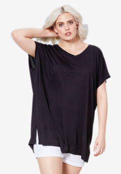 Fluid Knit Oversized Tunic by ellos®, BLACK, hi-res