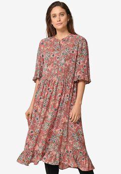 Ruffled Empire Dress,