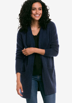 Open Cardigan Sweater by ellos®, NAVY, hi-res