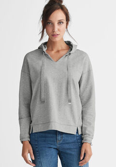 French Terry Ribbon Drawstring Sweatshirt by ellos®,
