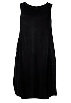 Sleeveless Shift Dress by ellos®, BLACK, hi-res