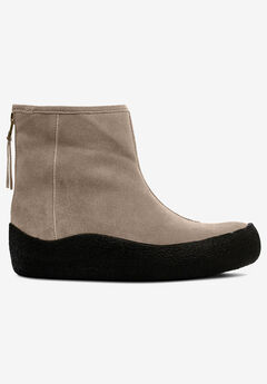Back Zip Suede Winter Bootie by ellos®, BARK
