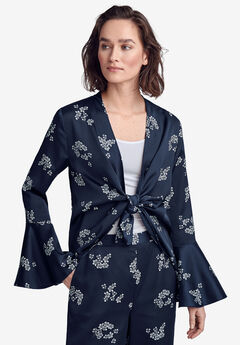 Soft Open Blazer by ellos®, NAVY WHITE FLORAL