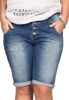 Bermuda Denim Shorts by ellos®,