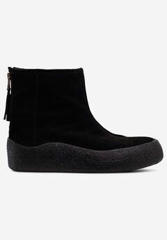 Back Zip Suede Winter Bootie by ellos®,