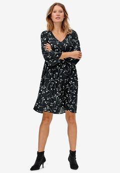 Bell-Sleeve Empire Waist Dress by ellos®,