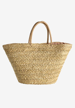Straw Beach Bag by ellos®, NATURAL, hi-res