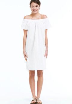 Eyelet Dress by ellos®, WHITE