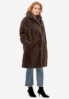 Long Faux Fur Coat by ellos®,
