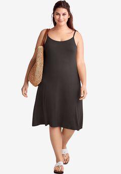 Knit Tank dress, BLACK