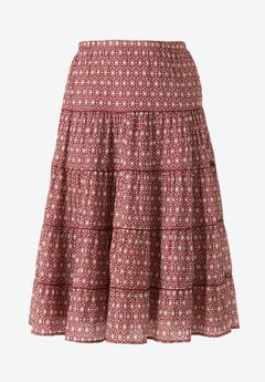 Tiered Print Skirt by ellos®,
