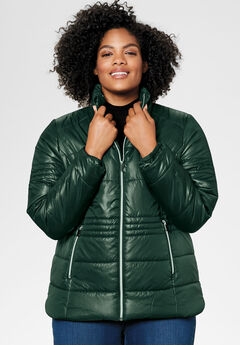 Short Puffer Zip Front Jacket by ellos®,
